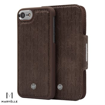 Marvelle iPhone 6/7/8 Vegan Cover N307 Walnut Dark Brown