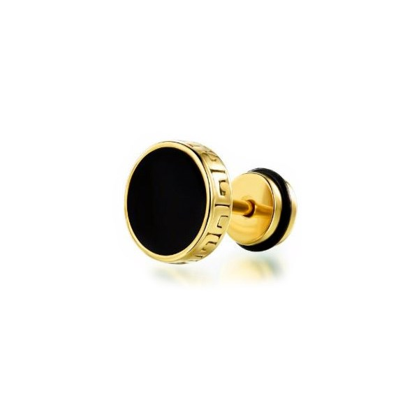 Stud Ørering Meander Gold 10mm