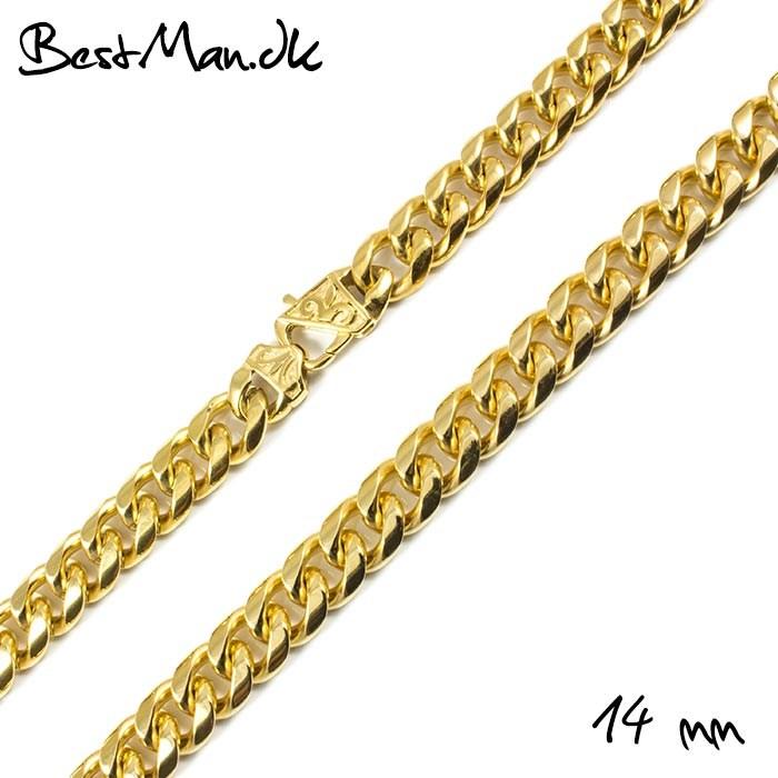 b140f433325 Guld Halskæde Til Mænd 14mm