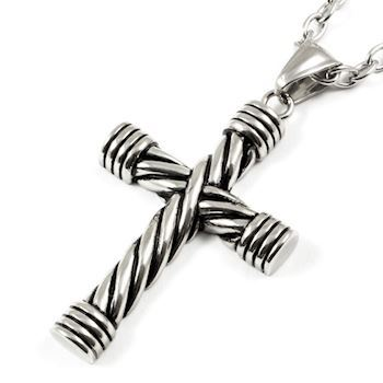Massive Steel Cross Silver