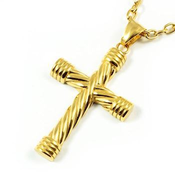 Massive Steel Cross Gold