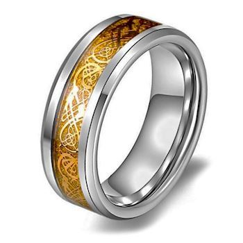 Herre Ring Dragon Design Gold