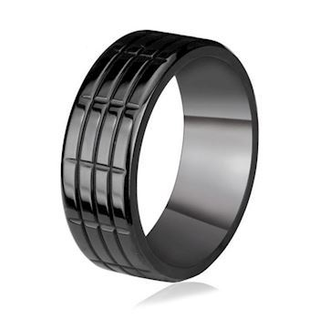 Herre Ring Black Steel