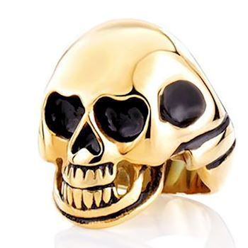 Skelethoved Guld Ring