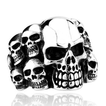 Skeletons Maskulin Herre Ring