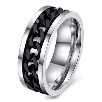 Black Chain Stål Ring