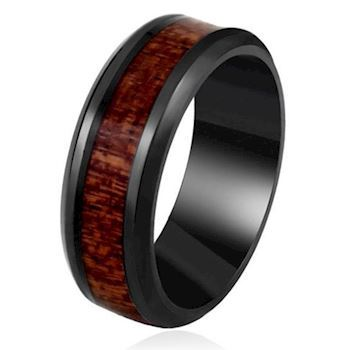 Ring  Black Wood