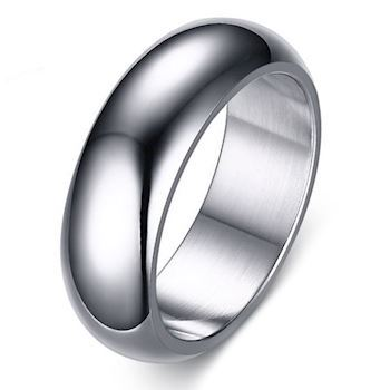 Curve Ring Silver Steel