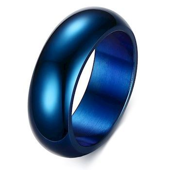 Curve Ring Blue Steel