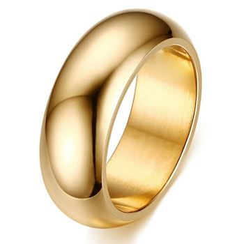 Curve Ring Gold Steel