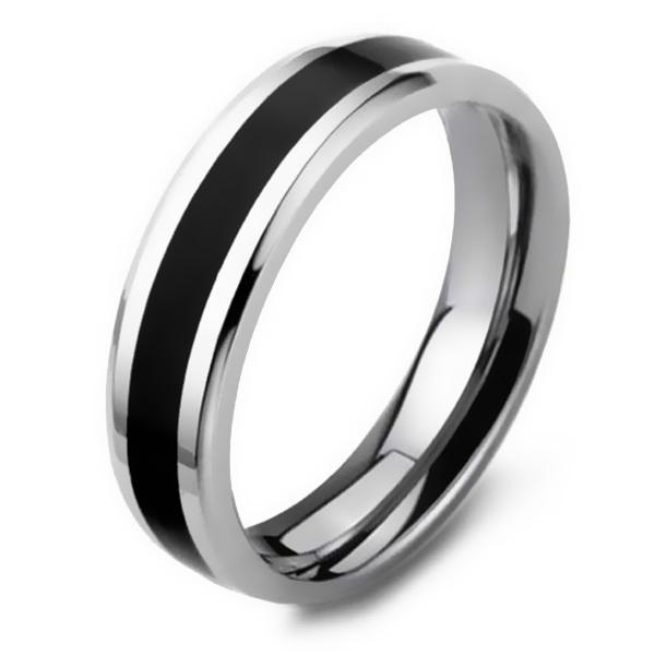 e90ab3d2 Herre Ring Sort & Sølv