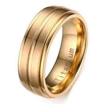 Titanium Herre Ring Gold