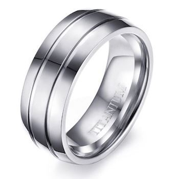 Commodore Titanium Herre Ring Steel