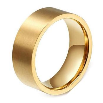 Ring Brushed Gold Steel