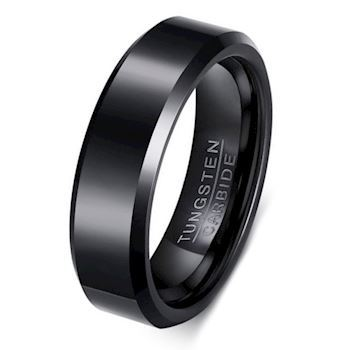 Tungsten Ring Sort Facet Slebet