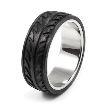 Loke Herre Ring Carbon & Steel