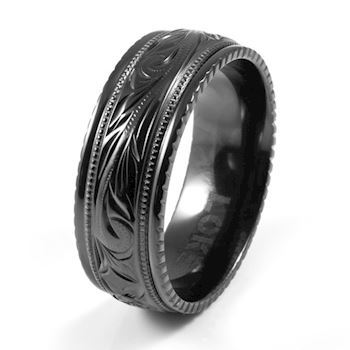 Loke Herre Ring Zirconium Black