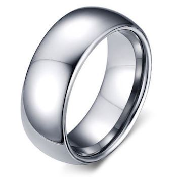 Tungstens Ring Klassisk Design