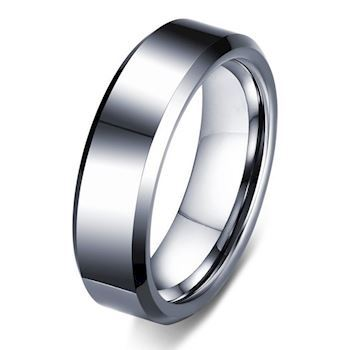 Tungsten Ring Facet slebet