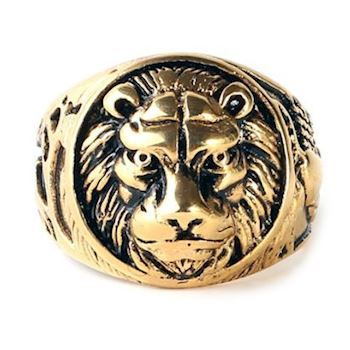 Herre Ring Gold Lion