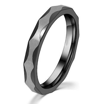 Ring Black & Steel 3mm