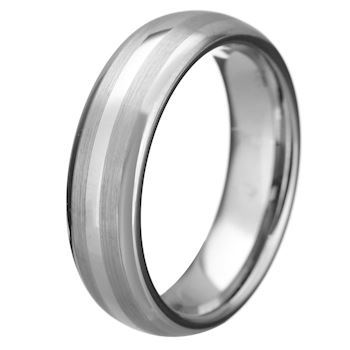 Ring Tungsten Duo Brushed 6mm