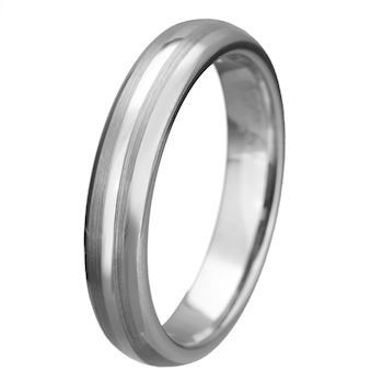 Ring Tungsten Duo Brushed 4mm