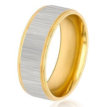 Herre Ring Brushed Silver & Gold
