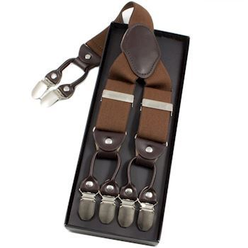 BestMan Y-Sele 6-Clips Coffee Brown