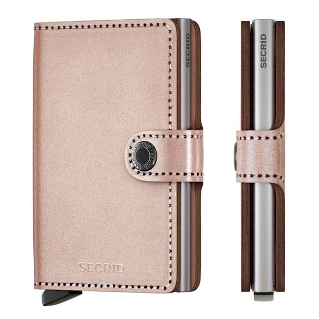 Secrid Mini Wallet Metallic Rose