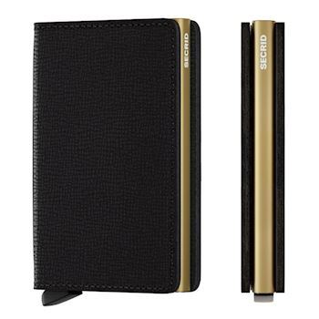 Secrid Slim Wallet Crisple Black Gold