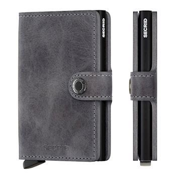 Secrid Mini Wallet Vintage Grey Black