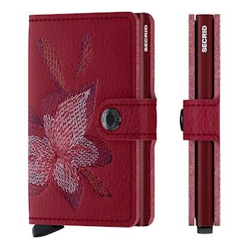 Secrid Mini Wallet Magnolia Rosso Stitch