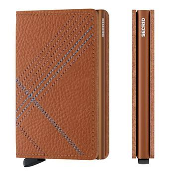 Secrid Slim Wallet Linea Caramello Stitch