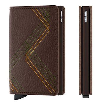 Secrid Slim Wallet Linea Espresso Stitch